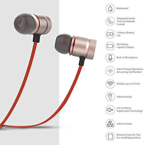 bluetooth headphonesownta wireless headphones magnetic bluetooth earbudssnug fit for running with miccompatible iphonesamsungandroid smartphoneipad cvc 60 noise cancelling micaptx s photo 001 - Bluetooth Headphones,ownta Wireless Headphones Magnetic Bluetooth Earbuds,Snug Fit for Running with Mic,Compatible iPhone/Samsung/Android Smartphone/iPad (CVC 6.0 Noise Cancelling Mic,aptX Stereo)