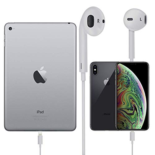 Earbuds/Earphones/Headphones FUELUS Wired/Noise Isolating Earplugs Stereo Bass Headphones with Built-in microphones & Volume Control Compatible iPhone Xs/XS Max/XR/X/8/8 Plus/7/7Plus Earphones(white3)