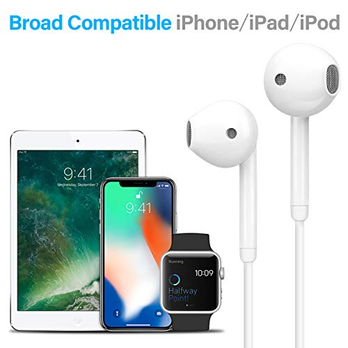 lightning earbuds popa in ear headphones earphones with microphone and remote mfi certified compatible with iphone xxsxs maxxr88p77pipad proipad airipad miniipod photo 02 - Lightning Earbuds, Popa in-Ear Headphones Earphones with Microphone and Remote, MFi Certified, Compatible with iPhone X/XS/XS MAX/XR/8/8P/7/7P/iPad Pro/iPad Air/iPad Mini/iPod