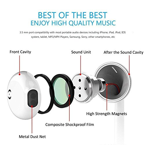 my handy design earbuds microphone earphones stereo headphones noise isolating headset compatible with iphone xsxs maxxrx88 plus77 plus earphones image 002 - my-handy-design Earbuds, Microphone Earphones Stereo Headphones Noise Isolating Headset Compatible with iPhone Xs/XS Max/XR/X/8/8 Plus/7/7 Plus Earphones