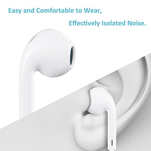 my-handy-design Earbuds, Microphone Earphones Stereo Headphones Noise Isolating Headset Compatible with iPhone Xs/XS Max/XR/X/8/8 Plus/7/7 Plus Earphones