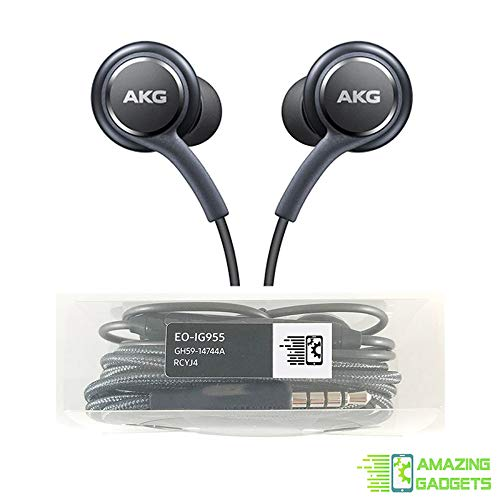 OEM Amazing Stereo Headphones for Samsung Galaxy S8 S9 S8 Plus S9 Plus S10 Note 8 9 – Designed by AKG – with Microphone