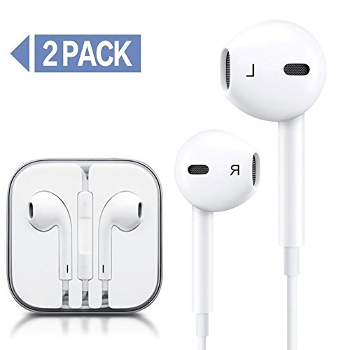 QIANXIANG Earbuds/Earphones/Headphones, Premium in-Ear Wired Earphones with Remote & Mic Compatible Apple iPhone 6s/plus/6/5s/se/5c/iPad (White)