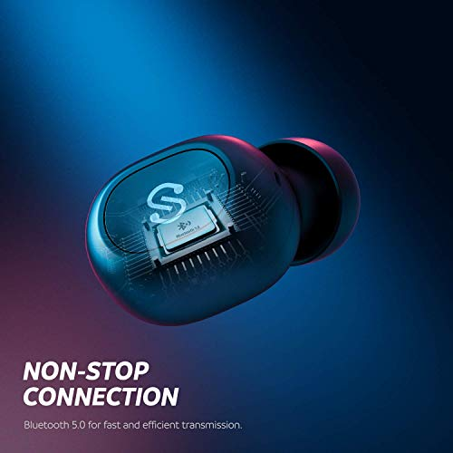 soundpeats true wireless earbuds 50 bluetooth headphones in ear stereo wireless earphones with microphone binaural calls one step pairing 35 hours upgraded truefree plus picture 01 - SoundPEATS True Wireless Earbuds 5.0 Bluetooth Headphones in-Ear Stereo Wireless Earphones with Microphone Binaural Calls, One-Step Pairing, 35 Hours, Upgraded TrueFree Plus
