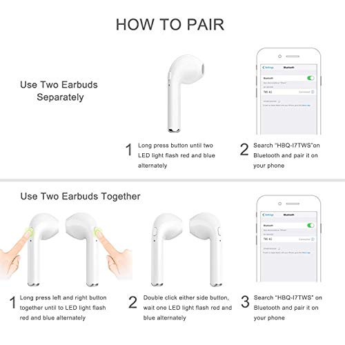 toping wireless earbuds bluetooth headphones with mic handsfree sweatproof mini in ear sports earphones noise cancelling headsets with charging case photo 01 - TOPING Wireless Earbuds, Bluetooth Headphones with Mic Handsfree Sweatproof Mini in-Ear Sports Earphones Noise Cancelling Headsets with Charging Case
