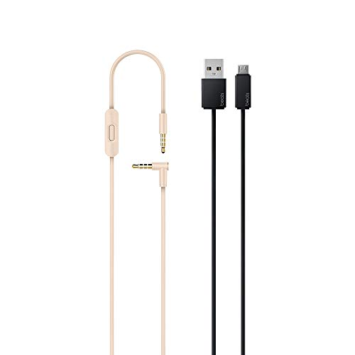 Beats S.o.l.o.3 Wireless On Ear Headphones with Carrying case and RemoteTalk Cable (Satin Gold)