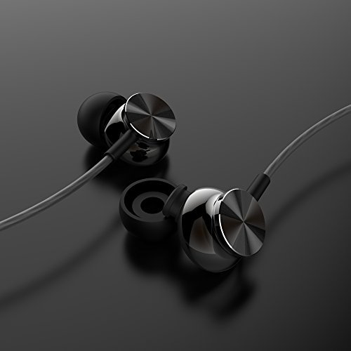 Betron BS10 Earphones Headphones, Powerful Bass Driven Sound, 12mm Large Drivers, Ergonomic Design with Remote Control and Microphone for iPhone, iPad, iPod, Samsung (Black)