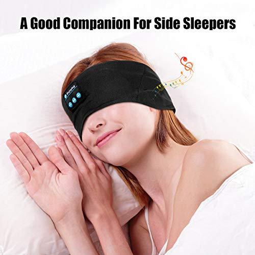 bluetooth headbands music sports sweatbandwu minglu wireless sleeping headphonesheadband headset for menwomen with thin cooling fabric adjustable earphones for running yoga black photo 01 - Bluetooth Headbands Music Sports Sweatband,WU-MINGLU Wireless Sleeping Headphones,Headband Headset for Men,Women with Thin Cooling Fabric Adjustable Earphones for Running, Yoga Black