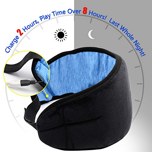 bluetooth sleep headphones sleeping eye mask d monkey wireless travel music headsets eyes cover with built in earphones handsfree microphone soft picture 02 - Bluetooth Sleep Headphones Sleeping Eye Mask, D-MONKEY Wireless Travel Music Headsets Eyes Cover with Built-in Earphones Handsfree Microphone Soft
