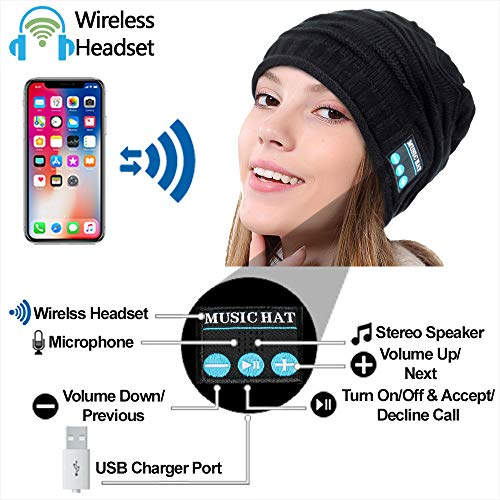 hightechlife upgraded wireless bluetooth beanie hat headphones v42 unique christmas tech gifts for mendadwomenmomteen boysgirls stocking stuffer wbuilt in hd stereo speakers microphon photo 1 - HighTechLife Upgraded Wireless Bluetooth Beanie Hat Headphones V4.2 Unique Christmas Tech Gifts for Men/Dad/Women/Mom/Teen Boys/Girls Stocking Stuffer w/Built-in HD Stereo Speakers & Microphone