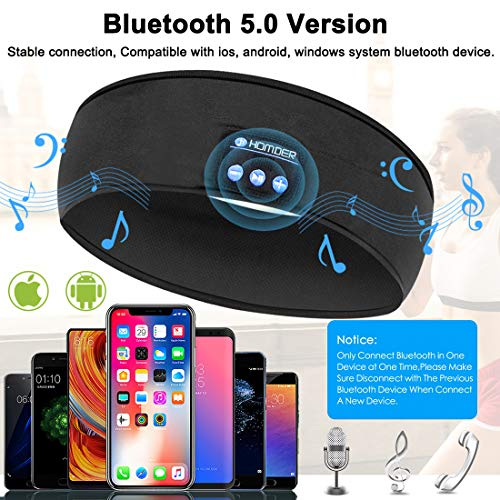 homder sleep headphones bluetooth headband stereo wirless bluetooth 50 headset unisex sport sweatband for working out exercising skating snowboarding hiking image 001 - Homder Sleep Headphones Bluetooth Headband Stereo Wirless Bluetooth 5.0 Headset Unisex Sport Sweatband for Working Out, Exercising, Skating, Snowboarding, Hiking
