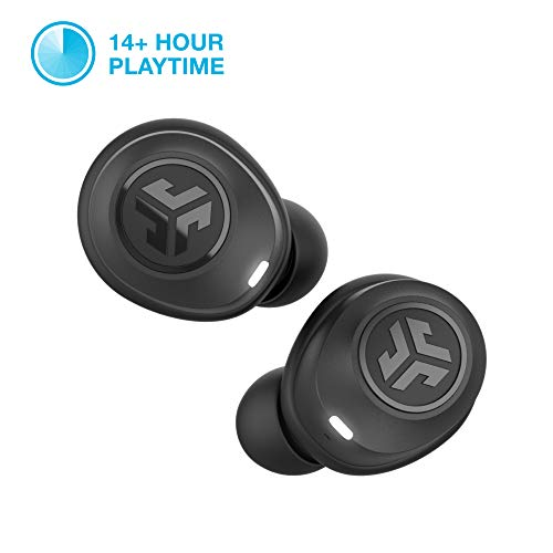 JLab Audio JBuds Air True Wireless Signature Bluetooth Earbuds + Charging Case – Black – IP55 Sweat Resistance – Bluetooth 5.0 Connection – 3 EQ Sound Settings: JLab Signature, Balanced, Bass Boost