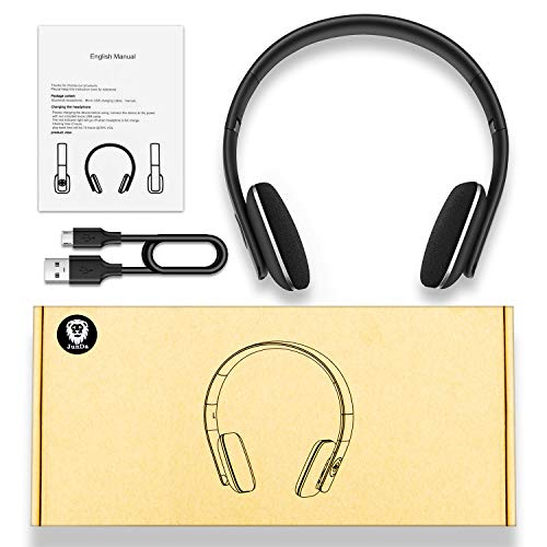 JunDa Bluetooth Wireless Headphones Headset with Mic Foldable Deep Bass Gaming Noise Reduction Over Ear 10 Hour Playtime