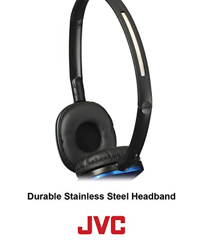 jvc blue flat and foldable colorful flats on ear headphone with 394 foot gold plated phone slim plug has160a image 02 - JVC Blue Flat and Foldable Colorful Flats On Ear Headphone with 3.94 foot Gold Plated Phone Slim Plug HAS160A