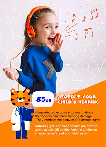 kidrox kids headphones wired headphones for kids toddlers 85db volume limited adjustable headband tangle free cable childrens earphones on ear picture 01 - Kidrox Kids Headphones - Wired Headphones for Kids, Toddlers, 85dB Volume Limited, Adjustable Headband, Tangle Free Cable - Childrens Earphones on Ear