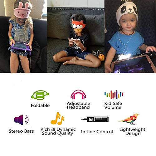 kids headphones volume limiting with ultra thin adjustable speakers soft children fleece headband toddler headphones for home and travel monster image 002 - Kids Headphones, Volume Limiting with Ultra Thin Adjustable Speakers Soft Children Fleece Headband Toddler Headphones for Home and Travel - Monster