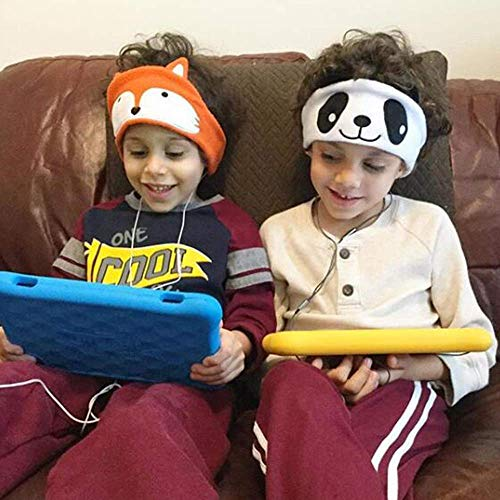 Kids Headphones, Volume Limiting with Ultra Thin Adjustable Speakers Soft Children Fleece Headband Toddler Headphones for Home and Travel – Monster