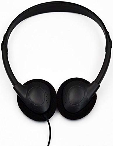 Maeline Stereo Classroom School Headphones Set (10 Pack, Black)