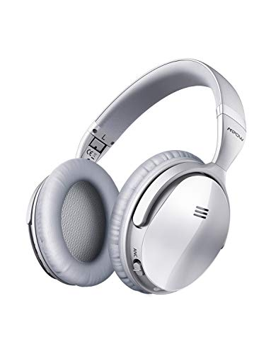 Mpow H5 [Upgrade] Active Noise Cancelling Headphones, ANC Over Ear Wireless Bluetooth Headphones w/Mic, Electroplating Stylish Look, Comfortable Protein Earpads, Travel Work Computer Home