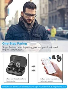 pasonomi bluetooth earbuds wireless headphones bluetooth headset wireless earphones ipx7 waterproof bluetooth 50 stereo hi fi sound with 2200ma charging case 2019 version black picture 001 225x300 - PASONOMI Bluetooth Earbuds Wireless Headphones Bluetooth Headset Wireless Earphones IPX7 Waterproof Bluetooth 5.0 Stereo Hi-Fi Sound with 2200mA Charging Case [2019 Version] (Black) picture 001