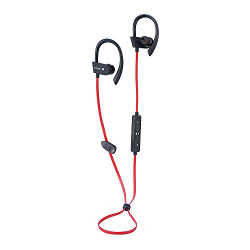 rvixe wireless bluetooth earbuds headphones waterproof in ear flexible earphone earplug noise cancelling sport headsets compatible iphone ipad android smart bluetooth device red image 02 - RVIXE Wireless Bluetooth Earbuds Headphones Waterproof in Ear Flexible Earphone EarPlug Noise Cancelling Sport Headsets Compatible iPhone iPad Android Smart Bluetooth Device - Red