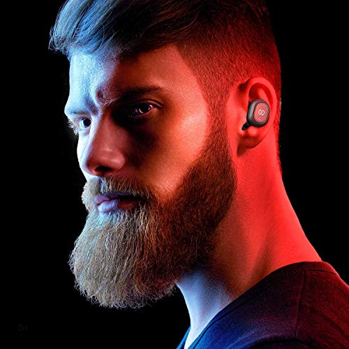 soundpeats true wireless earbuds 50 bluetooth headphones in ear stereo wireless earphones with microphone binaural calls one step pairing total 35 hours truefree plus photo 02 - SoundPEATS True Wireless Earbuds 5.0 Bluetooth Headphones in-Ear Stereo Wireless Earphones with Microphone Binaural Calls, One-Step Pairing, Total 35 Hours, TrueFree Plus