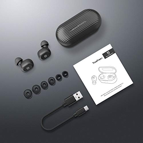 soundpeats true wireless earbuds 50 bluetooth headphones in ear stereo wireless earphones with microphone binaural calls one step pairing total 35 hours truefree plus photo 07 - SoundPEATS True Wireless Earbuds 5.0 Bluetooth Headphones in-Ear Stereo Wireless Earphones with Microphone Binaural Calls, One-Step Pairing, Total 35 Hours, TrueFree Plus
