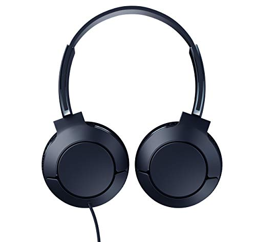 tcl mtro200 on ear wired headphones with built in mic slate blue image 002 - TCL MTRO200 On-Ear Wired Headphones with Built-in Mic - Slate Blue