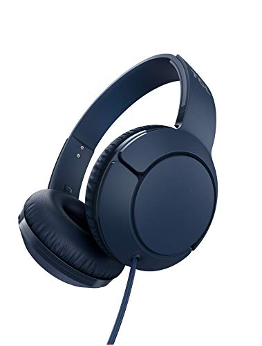 TCL MTRO200 On-Ear Wired Headphones with Built-in Mic – Slate Blue