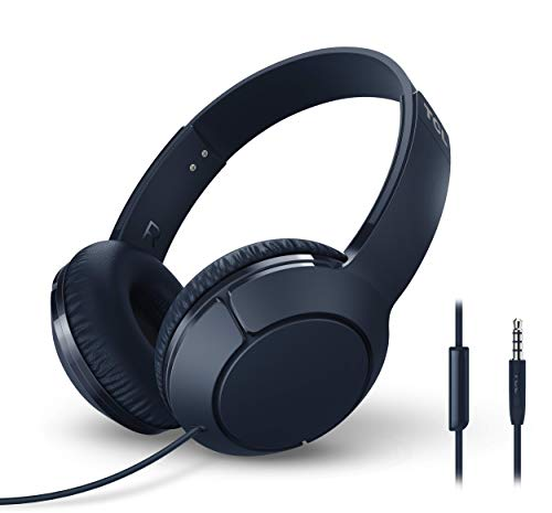 tcl mtro200 on ear wired headphones with built in mic slate blue photo 01 - TCL MTRO200 On-Ear Wired Headphones with Built-in Mic - Slate Blue