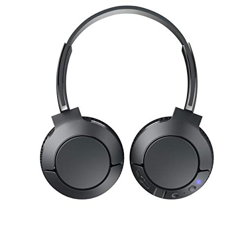 TCL MTRO200BT On-Ear Wireless Noise Isolating Headphones with Built-in Mic – Shadow Black
