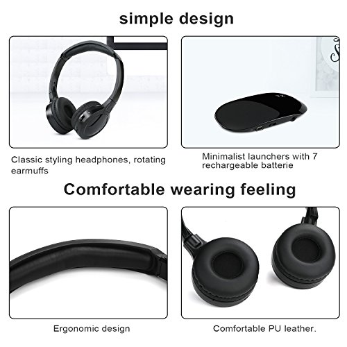 wireless headphones for tv jelly comb tv wireless headphones with 35mm audio out jack and rca audio out for tv cell phone laptop upgraded auto scan and auto sleep picture 02 - Wireless Headphones for TV, Jelly Comb TV Wireless Headphones with 3.5mm Audio-Out Jack and RCA Audio-Out for TV, Cell Phone, Laptop, Upgraded Auto Scan and Auto Sleep