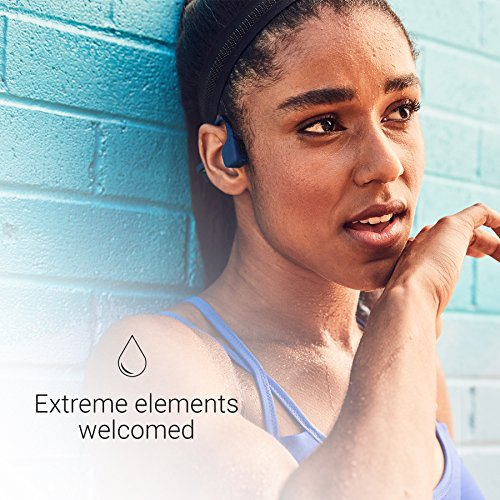 AfterShokz Trekz Air Open Ear Wireless Bone Conduction Headphones, Midnight Blue, AS650MB