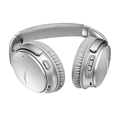 bose quietcomfort 35 ii wireless bluetooth headphones noise cancelling with alexa voice control enabled with bose ar silver one size 789564 0020 image 02 - Bose QuietComfort 35 II Wireless Bluetooth Headphones, Noise-Cancelling, with Alexa voice control, enabled with Bose AR - Silver, One Size - 789564-0020