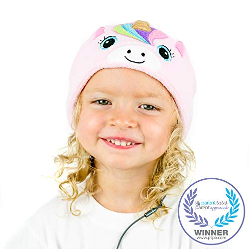 cozyphones kids headphones volume limited with ultra thin speakers soft fleece headband perfect childrens earphones for home and travel pink rainbow unicorn photo 7 - CozyPhones Kids Headphones Volume Limited with Ultra-Thin Speakers Soft Fleece Headband - Perfect Children's Earphones for Home and Travel - Pink Rainbow Unicorn