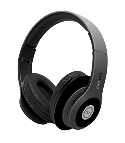 ijoy matte finish premium rechargeable wireless headphones bluetooth over ear headphones foldable headset with mic stealth picture 01 - iJoy Matte Finish Premium Rechargeable Wireless Headphones Bluetooth Over Ear Headphones Foldable Headset with Mic (Stealth)