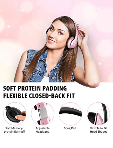 mpow 059 bluetooth headphones over ear hi fi stereo wireless headset foldable soft memory protein earmuffs wbuilt in mic wired mode pccell phonestv image 2 - Mpow 059 Bluetooth Headphones Over Ear, Hi-Fi Stereo Wireless Headset, Foldable, Soft Memory-Protein Earmuffs, w/Built-in Mic Wired Mode PC/Cell Phones/TV
