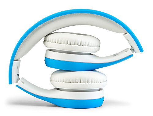 nenos children headphones kids headphones childrens headphones over ear headphones kids computer volume limited headphones for kids foldable blue image 002 - Nenos Children Headphones Kids Headphones Children's Headphones Over Ear Headphones Kids Computer Volume Limited Headphones for Kids Foldable (Blue)