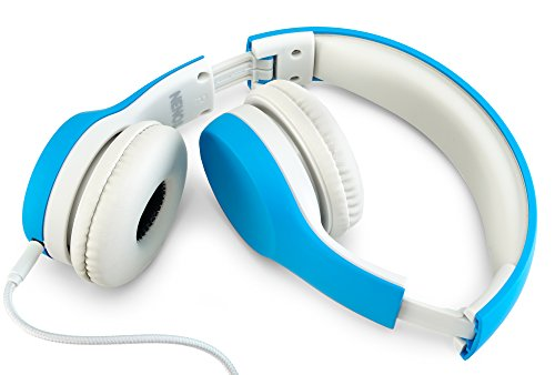 Nenos Children Headphones Kids Headphones Children's Headphones Over Ear Headphones Kids Computer Volume Limited Headphones for Kids Foldable (Blue)