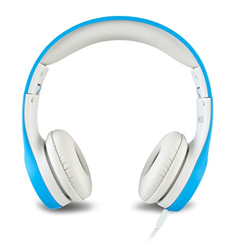 nenos children headphones kids headphones childrens headphones over ear headphones kids computer volume limited headphones for kids foldable blue image 1 - Nenos Children Headphones Kids Headphones Children's Headphones Over Ear Headphones Kids Computer Volume Limited Headphones for Kids Foldable (Blue)