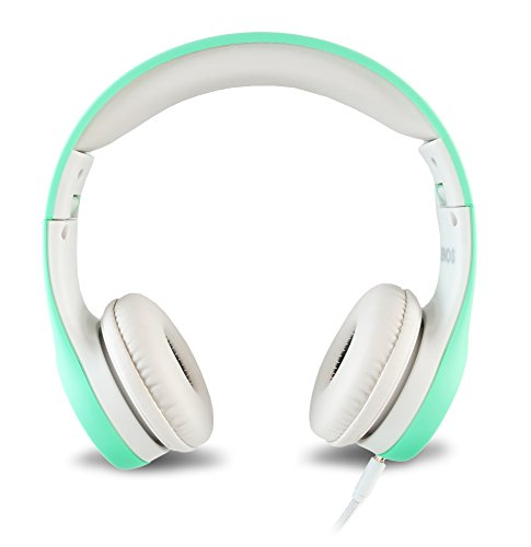nenos children headphones kids headphones childrens headphones over ear headphones kids computer volume limited headphones for kids foldable mint picture 1 - Nenos Children Headphones Kids Headphones Children's Headphones Over Ear Headphones Kids Computer Volume Limited Headphones for Kids Foldable (Mint)