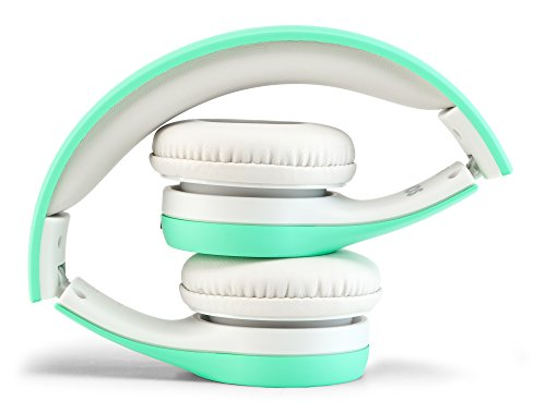 Nenos Children Headphones Kids Headphones Children's Headphones Over Ear Headphones Kids Computer Volume Limited Headphones for Kids Foldable (Mint)