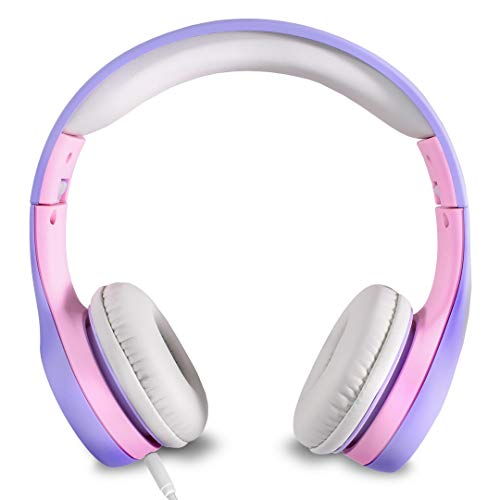 Nenos Kids Headphones Children's Headphones for Kids Toddler Headphones Limited Volume (Lavender)