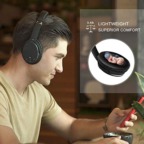 noise cancelling headphones real over earwireless lightweight srhythm durable foldable deep bass hi fi stereo bluetooth headset with mic and wire for tv pc cell phone low latency image 001 - Noise Cancelling Headphones Real Over Ear,Wireless Lightweight Srhythm Durable Foldable Deep Bass Hi-Fi Stereo Bluetooth Headset with Mic and Wire for TV, PC, Cell Phone - Low Latency