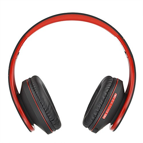 powerlocus bluetooth over ear headphones wireless stereo foldable headphones wireless and wired headsets with built in mic micro sdtf fm for iphonesamsungipadpc blackred picture 002 - PowerLocus Bluetooth Over-Ear Headphones, Wireless Stereo Foldable Headphones Wireless and Wired Headsets with Built-in Mic, Micro SD/TF, FM for iPhone/Samsung/iPad/PC (Black/Red)