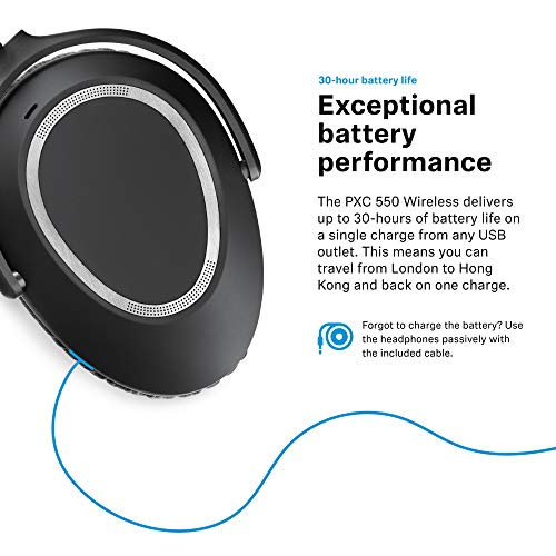 sennheiser pxc 550 wireless noisegard adaptive noise cancelling bluetooth headphone with touch sensitive control and 30 hour battery life image 06 - Sennheiser PXC 550 Wireless - NoiseGard Adaptive Noise Cancelling, Bluetooth Headphone with Touch Sensitive Control and 30-Hour Battery Life
