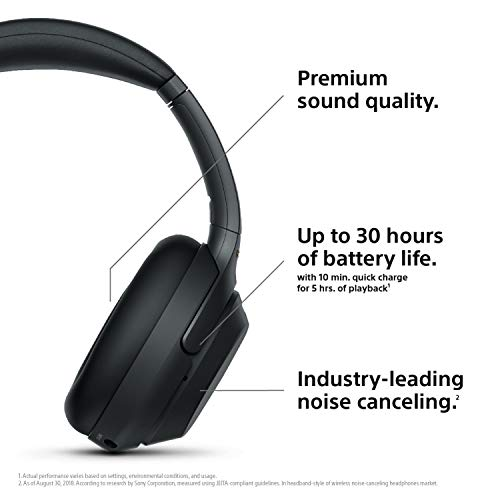 sony noise cancelling headphones wh1000xm3 wireless bluetooth over the ear headphones with mic and alexa voice control industry leading active noise cancellation black photo 001 - Sony Noise Cancelling Headphones WH1000XM3: Wireless Bluetooth Over the Ear Headphones with Mic and Alexa voice control - Industry Leading Active Noise Cancellation - Black