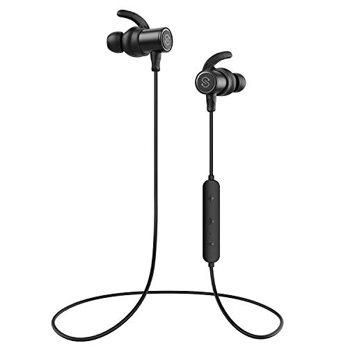 soundpeats magnetic wireless earbuds bluetooth headphones sport in ear ipx 6 sweatproof earphones with mic super sound quality bluetooth 41 aptx 8 hours play time secure fit design image 001 - SoundPEATS Magnetic Wireless Earbuds Bluetooth Headphones Sport in-Ear IPX 6 Sweatproof Earphones with Mic (Super Sound Quality Bluetooth 4.1, aptx, 8 Hours Play Time, Secure Fit Design)