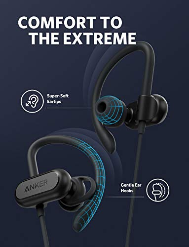 wireless bluetooth headphones soundcore spirit x sports earphones by anker bluetooth 50 12 hour battery ipx7 wireless earbuds noise isolation sweatguard technology for workout gym r image 002 - Wireless Bluetooth Headphones, Soundcore Spirit X Sports Earphones by Anker, Bluetooth 5.0, 12-Hour Battery, IPX7 Wireless Earbuds, Noise Isolation, SweatGuard Technology for Workout, Gym, Running