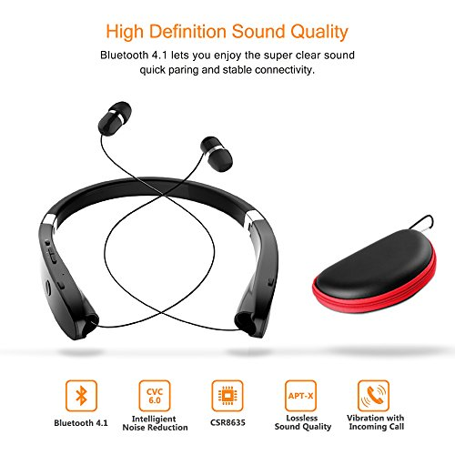 Foldable Bluetooth Headset, Beartwo